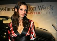 Michelle Lombardo at the Mercedes-Benz Fashion Week.