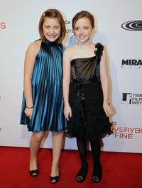 Mackenzie Milone and Lily Mo Sheen at the Tribeca Film Institute benefit screening of