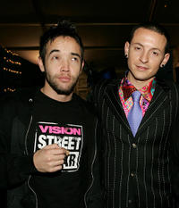 Chester Bennington and Guest at the MTV Europe Music Awards 2004 in Italy.