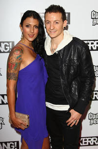 Chester Bennington and Guest at the Kerrang Awards 2009 in England.