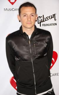 Chester Bennington at the fourth annual MusiCares Benefit Concert in California.