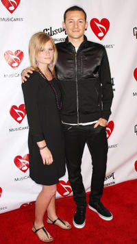 Chester Bennington and Guest at the fourth annual MusiCares Benefit Concert in California.