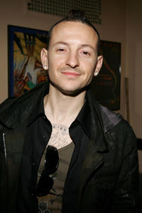 Chester Bennington at the 2006 American Music Awards in California.