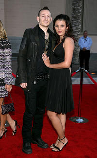 Chester Bennington and Talinda at the 2006 American Music Awards in California.