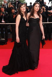 Clementine Poidatz and Laura Smet at the premiere of