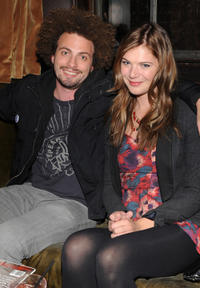 Justin Miner and Kate Lang Johnson at the California premiere of