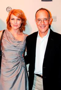 Kathleen Rose Perkins and writer David Crane at the Academy of Television Arts and Sciences' Writers Peer Group Reception Celebrating the 63rd Primetime Emmy Awards in California.