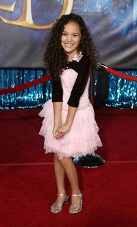 Madison Pettis at the world premiere of