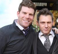 Stephen Rannazzisi and Keir O'Donnell at the premiere of