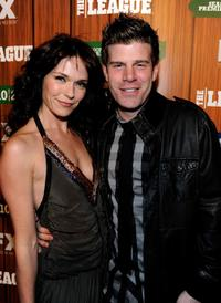 Katie Aselton and Stephen Rannazzisi at the premiere screening of