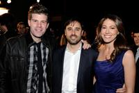 Stephen Rannazzisi, Jeff Schaffer and Jackie Marcus Schaffer at the premiere screening of