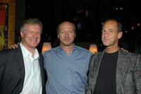 David Sington, Paul Haggis and Charles Ferguson at the after party of the private screening of