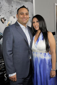 Russell Peters and Guest at the California premiere of