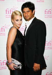 Miranda Raison and Raza Jaffrey at the FiFi UK Fragrance Awards 2008.