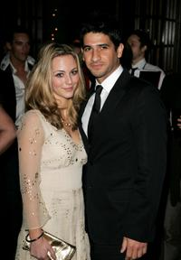 Miranda Raison and Raza Jaffrey at the UK premiere of