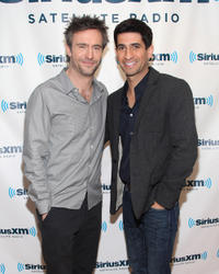 Jack Davenport and Raza Jaffrey at the SiriusXM Studio.