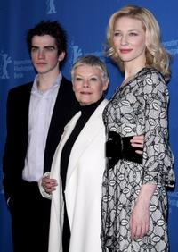 Andrew Simpson, Judi Dench and Cate Blanchett at the photocall of