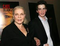 Lauren Bacall and Andrew Simpson at the premiere of