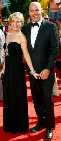 Ashley Jensen and Terence Beesley at the 60th Primetime Emmy Awards.