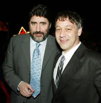 Alfred Molina and Sam Raimi at the after-party for the premiere of