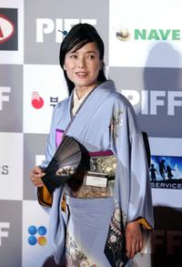 Kaori Momoi at the opening ceremony of the Pusan International Film Festival.