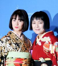 Rei Dan and Kaori Momoi at the photocall of