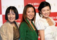 Kaori Momoi, Michelle Yeoh and Ziyi Zhang at the press conference to promote