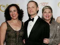 Karen Ziemba, David Hyde Pierce and Debra Monk at the after party of the New York opening night of