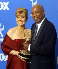 Debra Monk and Paris Barclay at the 51st Emmy Awards.