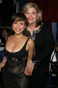 Rosie Perez and Debra Monk at the after party of the New York opening night of