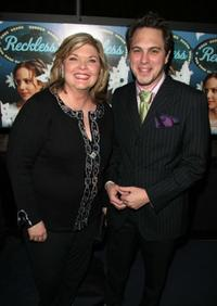 Debra Monk and Thomas Sadosk at the after party of the New York opening night of