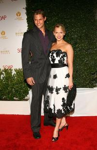 Justin Bruening and Alexa Havins at the Annual Daytime Emmy nominee party.