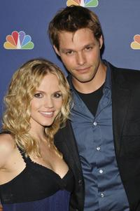 Alexa Havins and Justin Bruening at the NBC's Fall premiere party.