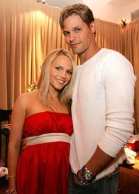 Alexa Havins and Justin Bruening at the 33rd Annual Daytime Emmy Awards.