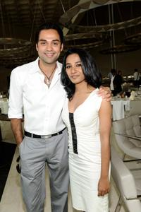 Abhay Deol and Tannishtha Chatterjee at the 2009 Doha Tribeca Film Festival.