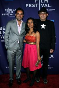 Abhay Deol, Tannishtha Chatterjee and Dev Benegal at the premiere of