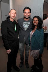 David Qwok, Abhay Deol and Tannishtha Chatterjee at the TFF Filmmaker party during the 2010 Tribeca Film Festival.