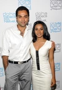 Abhay Deol and Tannishtha Chatterjee at the press conference of