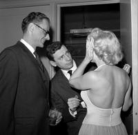 Yves Montand and Marilyn Monroe and at the screening of