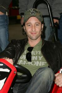 Alex O'Loughlin at the Celebrity Racing Charity event.