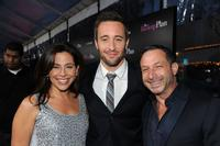Amy Baer, Alex O'Loughlin and Alan Poul at the California premiere of