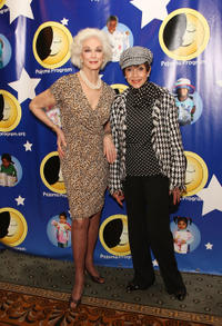 Carmen Dell'Orefice and Liliane Montevecchi at the Pajama Program Awards.