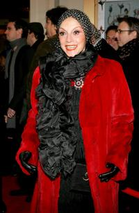 Liliane Montevecchi at the play opening night of