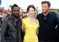 will.i.am, Lynn Collins and Hugh Jackman at the world premiere of