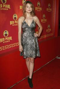 Haley Bennett at the grand opening of the Red Pearl Kitchen Hollywood.
