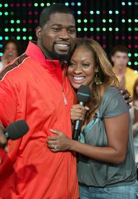 David Banner and MTV VJ LaLa at the MTV's Total Request Live.