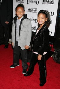 Actors Jaden Smith and his sister Willow at the N.Y. premiere of