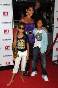 Jada Pinkett Smith, Willow Smith and Jaden Smith at the premiere of