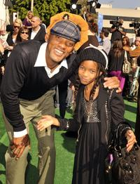 Will Smith and Willow Smith at the premiere of