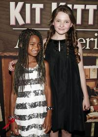 Willow Smith and Abigail Breslin at the premiere of